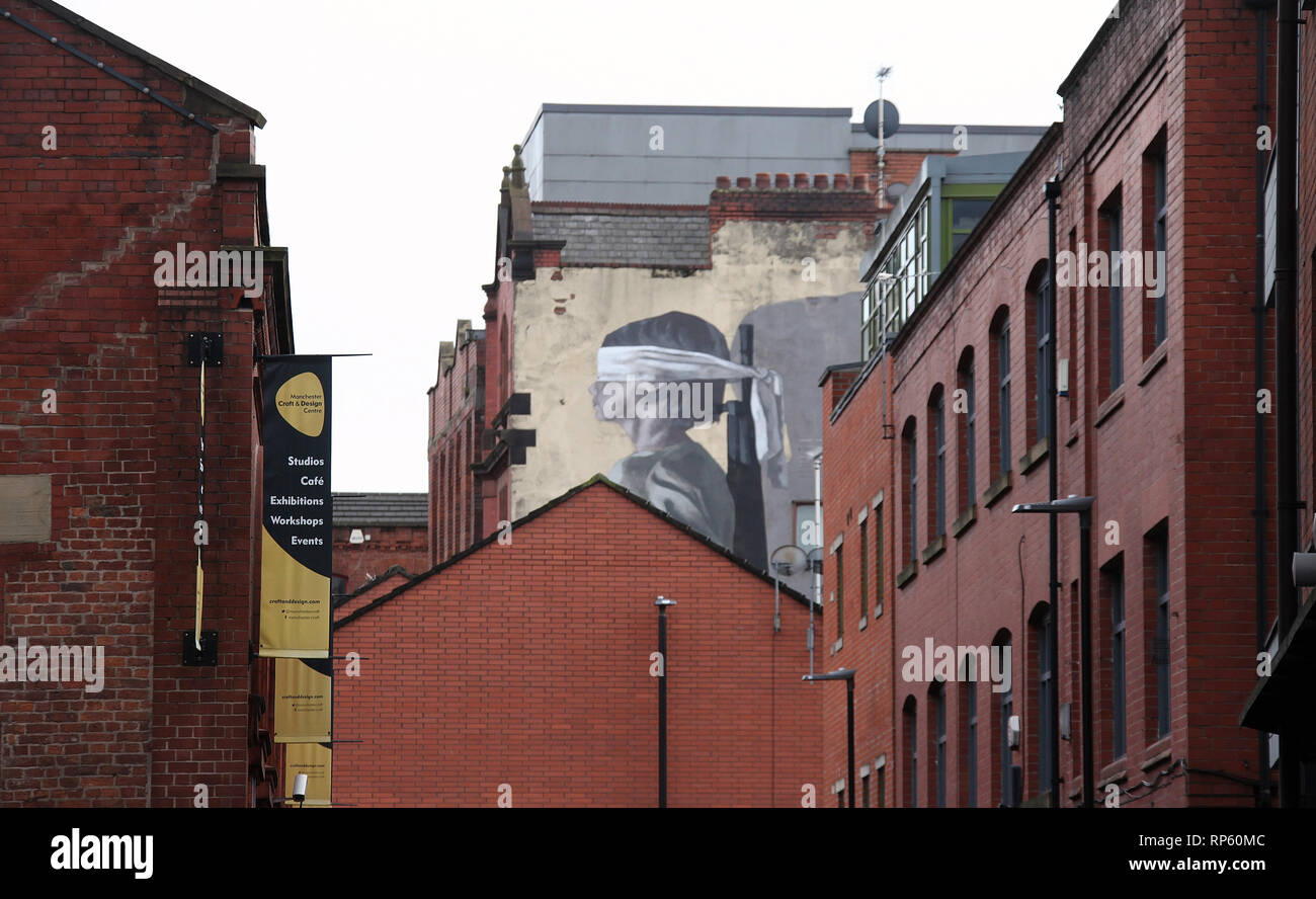 Northern Quarter district of Manchester city centre Stock Photo