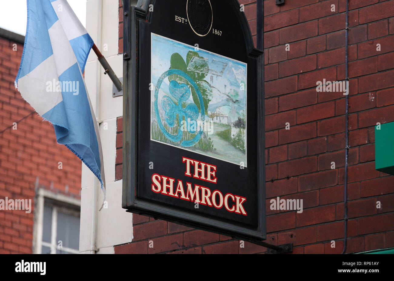 The Shamrock pub at Ancoats in Manchester - Stock Image