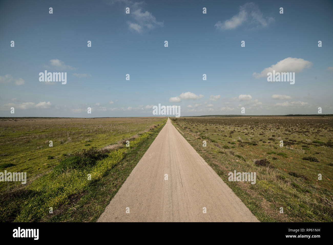 Country road, Sagres, Algarve, Portugal, February 2019 - Stock Image