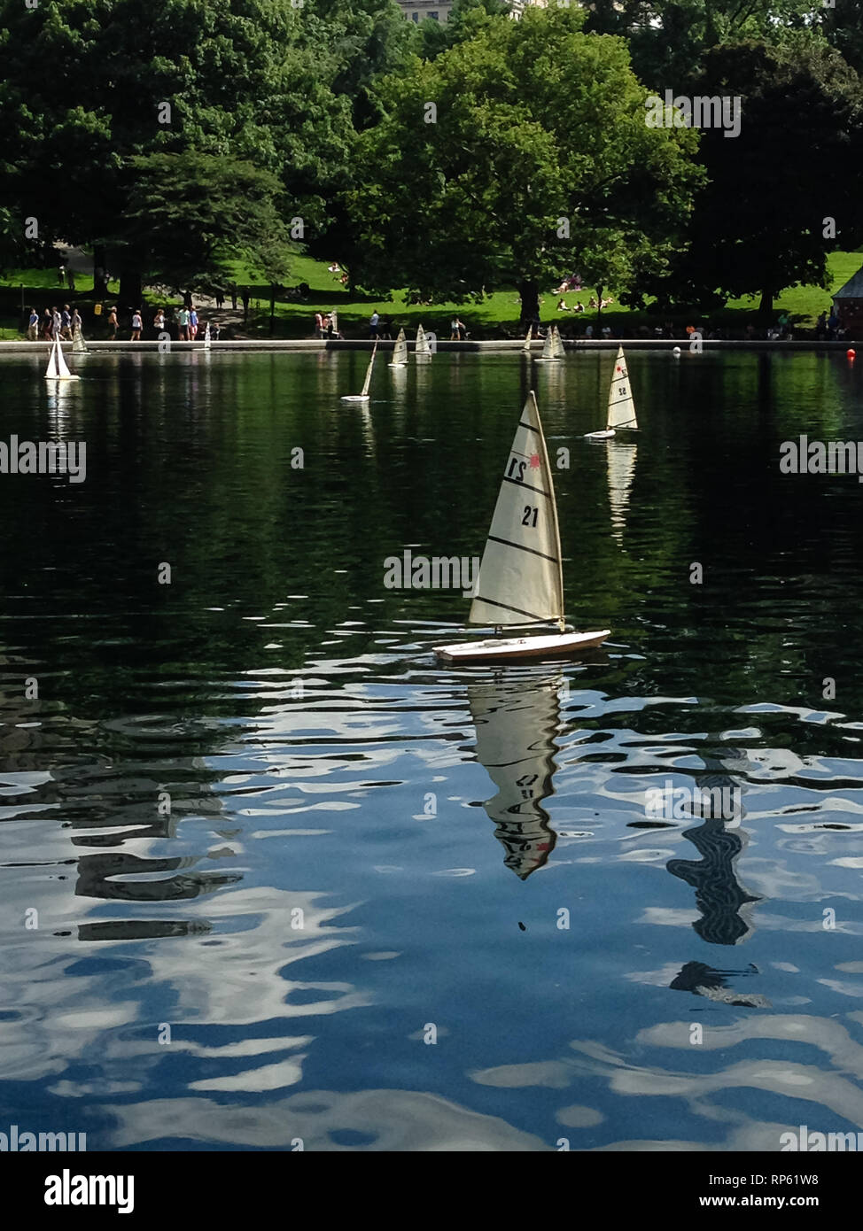 Central Park Model Boat Sailing High Resolution Stock Photography And Images Alamy