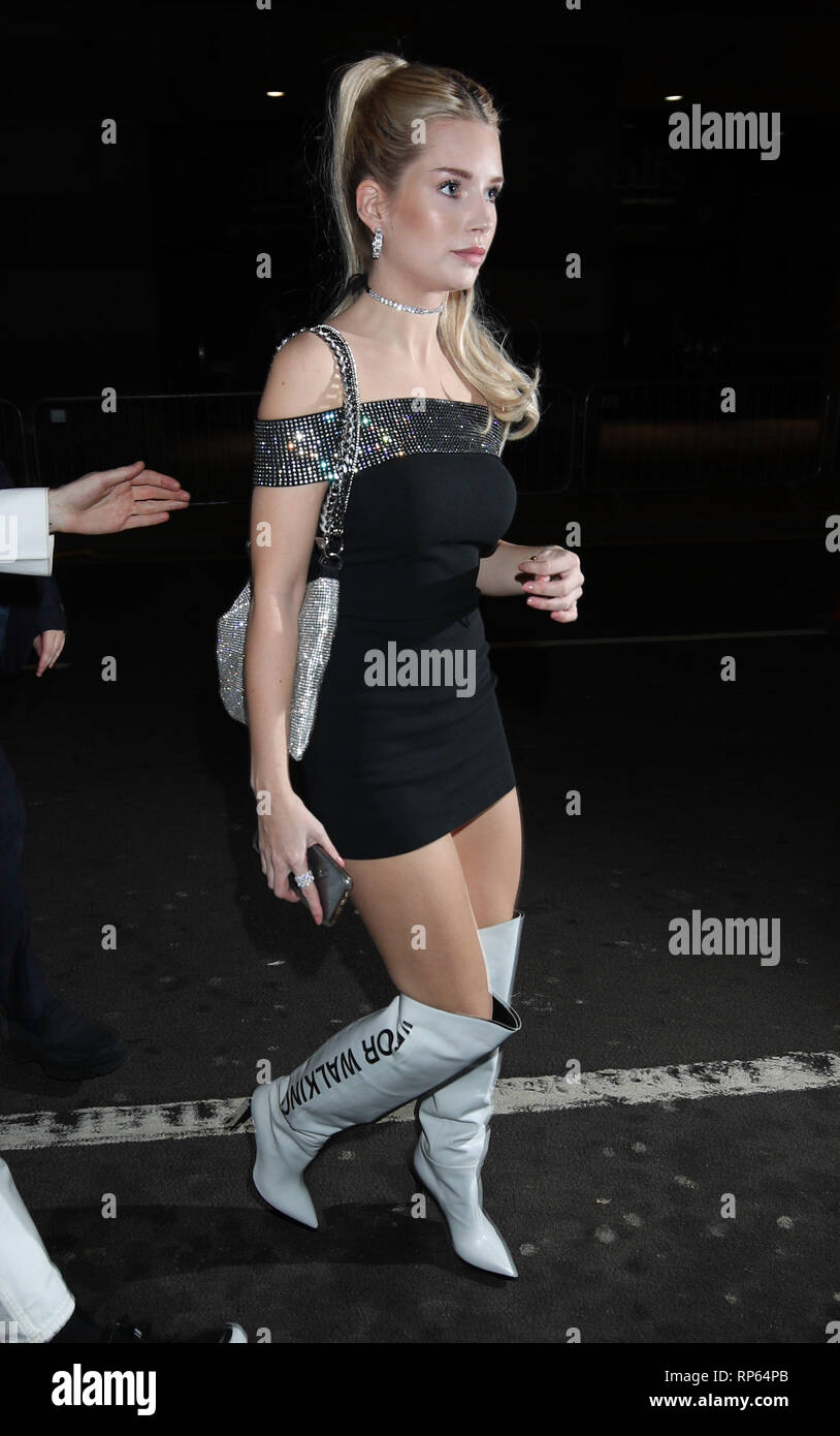 Lottie Moss arrives at Universal Music's Brit Awards after party at The Ned, London. - Stock Image