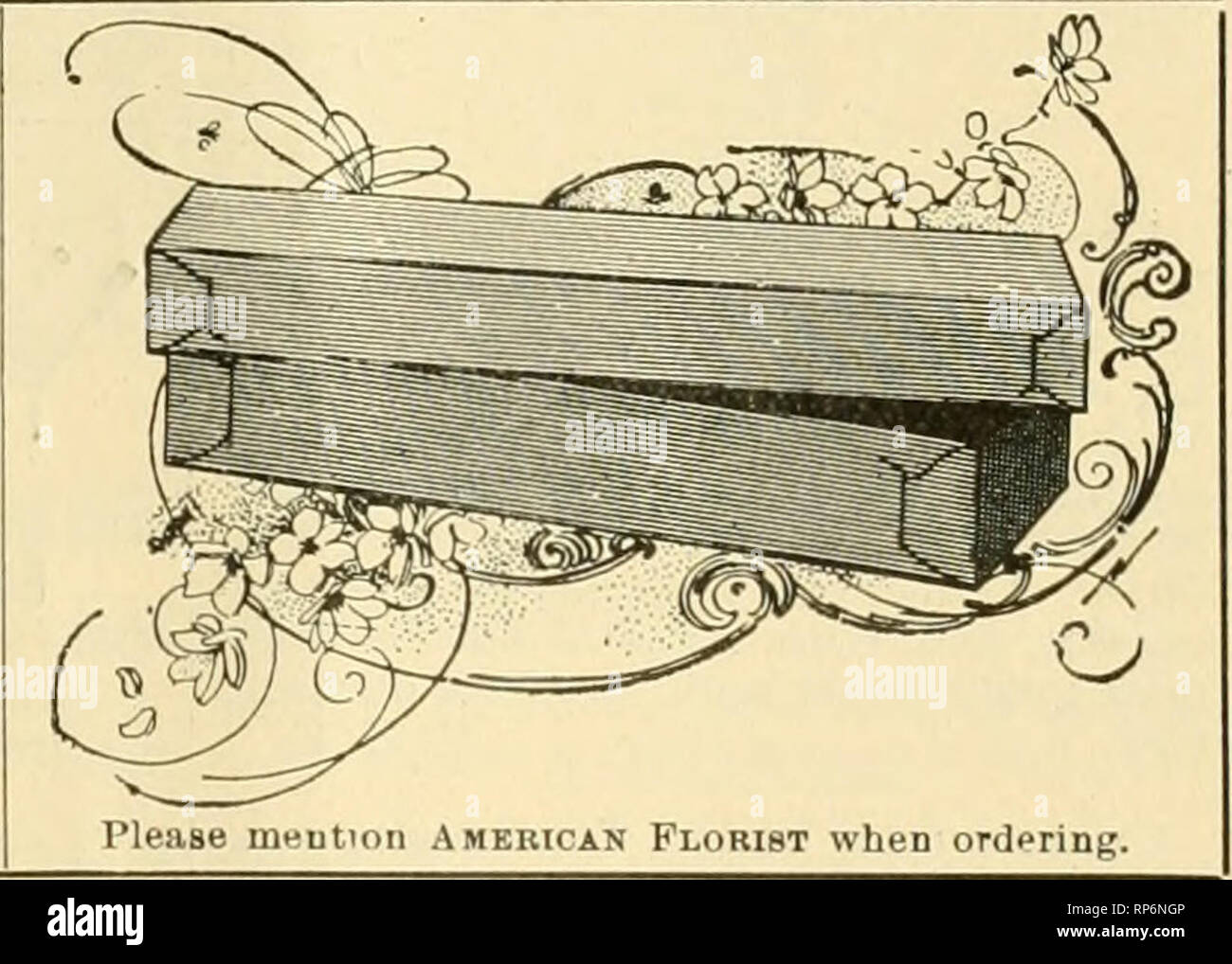 . The American florist : a weekly journal for the trade. Floriculture; Florists. Thi« wooden box nicely Btained and var- nlehedt 18x30x12 made In two sections, one for each sizd )etter, i;iven away wltli first order of 500 letters. Block Letters, IVi or 2-inch size, p^r 100. $2.00. Script Letters, $4. Fastener with each letter or word. Used by leadin? florists everywhere and for sale by ftil wholesale florists and supply deulers. N. F. McCarthy, Trcas. and Manager, 84 Hawley St., BOSTON, MASS. First latroduction to America of BLACK SOLUBLE INSECTICIDE • ? a ? %^ V^^A I a t ? ? Awarded Grand Pr - Stock Image