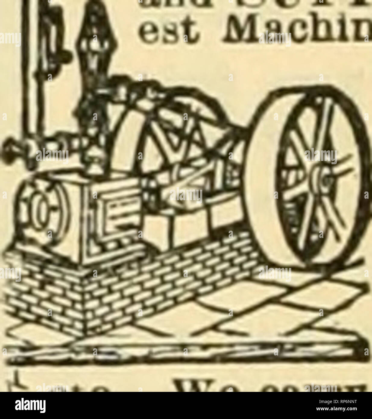 . The American florist : a weekly journal for the trade. Floriculture; Florists. REBUILT MACHINERY and SUPPLIES at Bargain Prices. Larg Machinery Depot on eanb. We buy buldmi,'S and plants, amonc others we bought the World't.  Fa r, the Omaba Eiposltion, the Iciiicatio POBt Dflice. and other I structures. SVe rebuild machin- ery of all kinds, and sell with binding guarantees. Boilers from $25 up; Engines from f35 etc. We carry t plies, snch as nEI/TINfi. v««m i IIA*j«;F.I?S, PI'tt^E.YSL^lROJ' ?^ PlI'F. IRON K<»OFIN<5,HARD WAl{F%VAI-VES&FITTINt;S. PHiniBING MATERIAL, etc. Will p.-n. - Stock Image