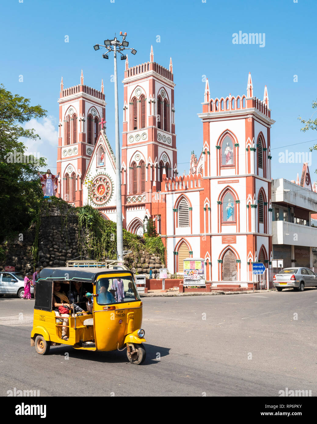 Pondicherry (or Puducherry), a French colonial settlement in India until 1954, is now a Union Territory town bounded by the southeastern Tamil Nadu st - Stock Image