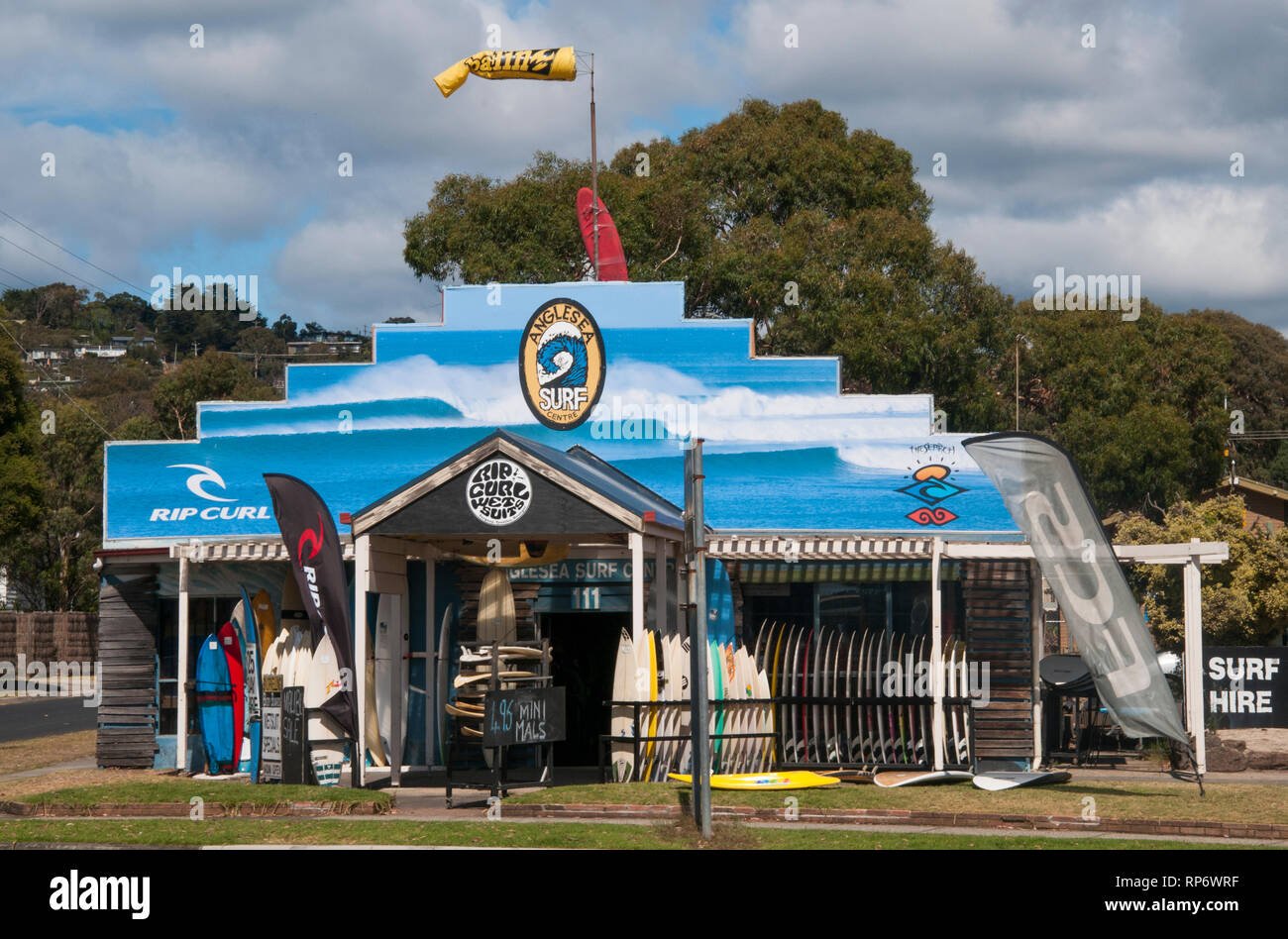 Surf shop at Anglesea on the Great Ocean Road, Victoria, Australia Stock Photo