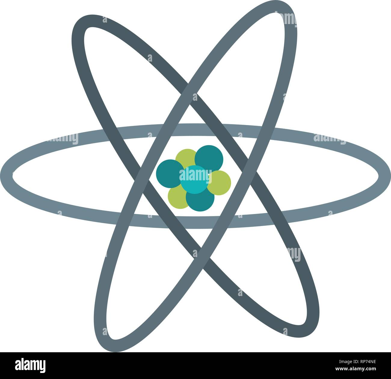 science atom symbol isolated Stock Vector