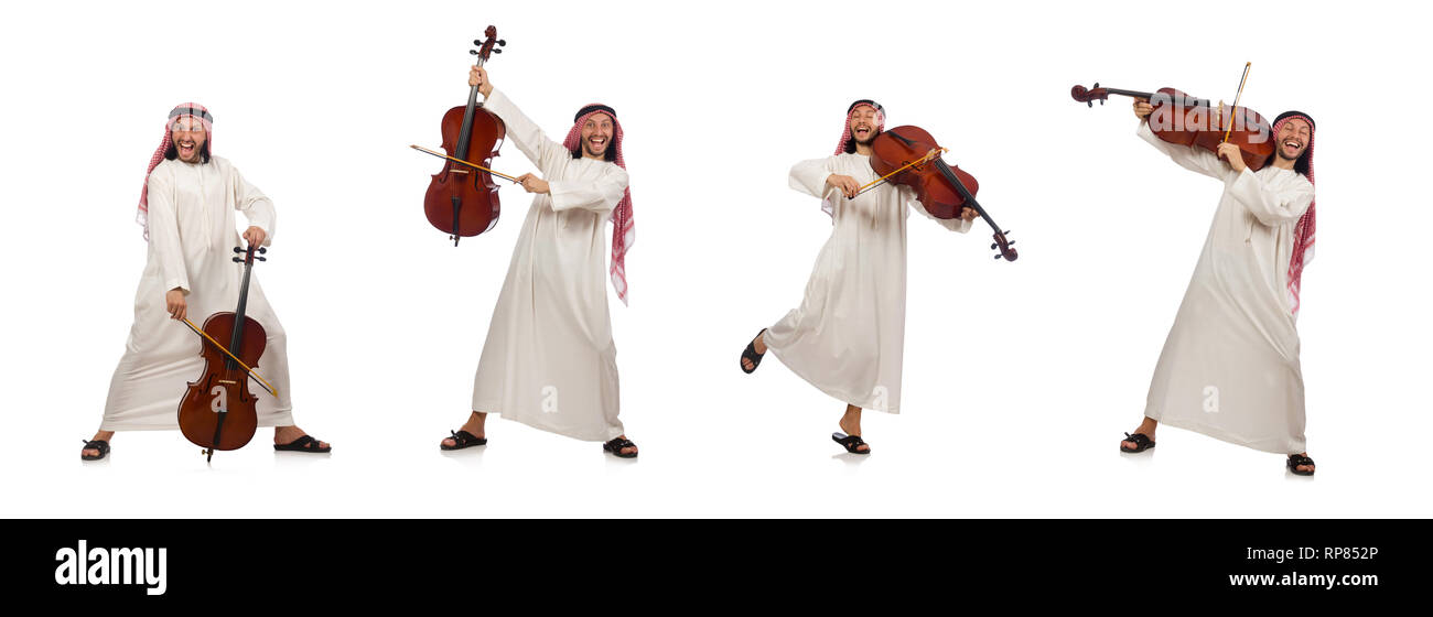 Arab man playing musical instrument Stock Photo: 237436830