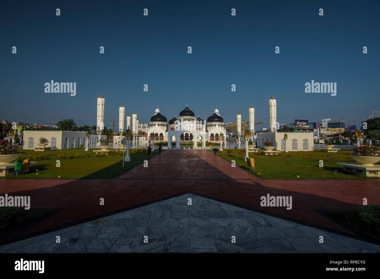Baiturrahman Grand Mosque Banda Aceh Stock Photo