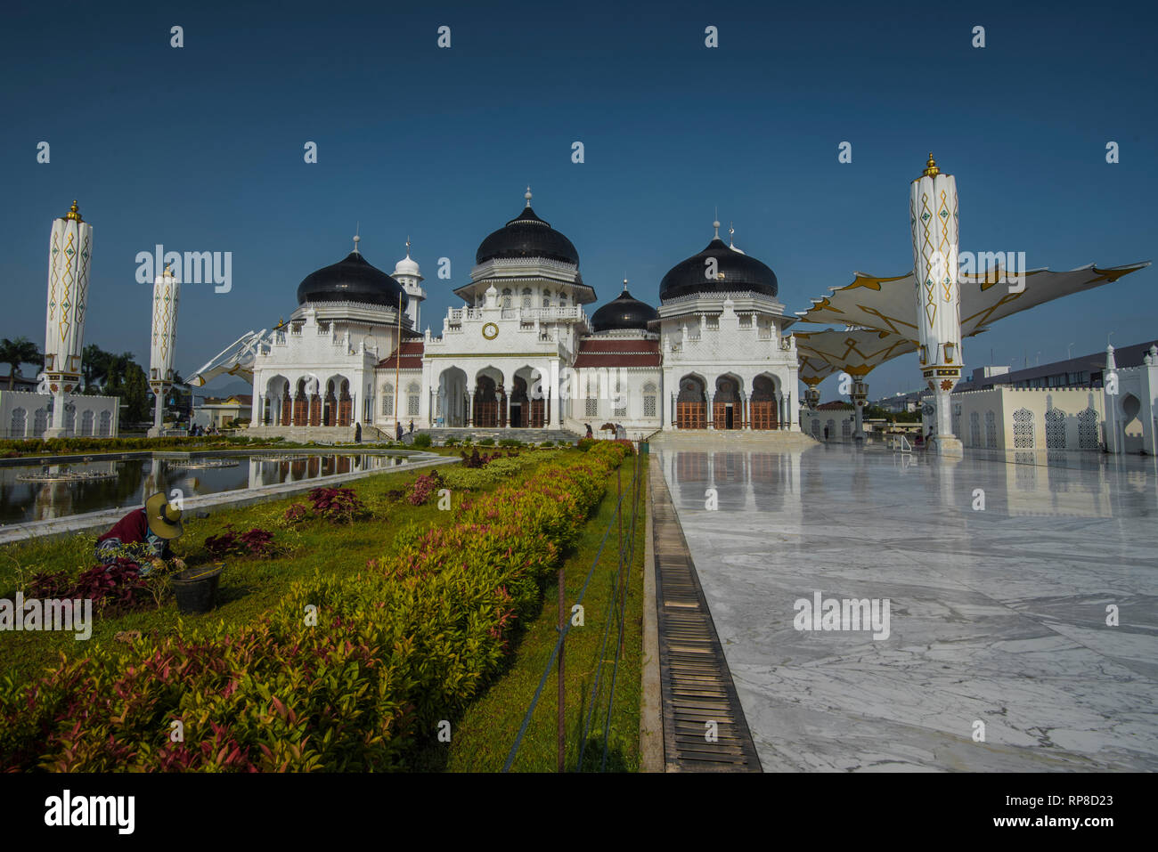 Banda Aceh Aceh Province Indonesia February 20 2019 Baiturrahman Grand Mosque Is Located In The Heart Of Banda Aceh City Stock Photo Alamy