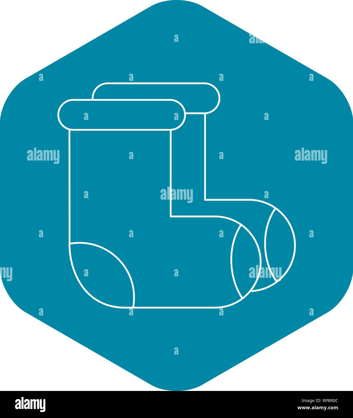Russian felt footwear icon, outline style - Stock Vector
