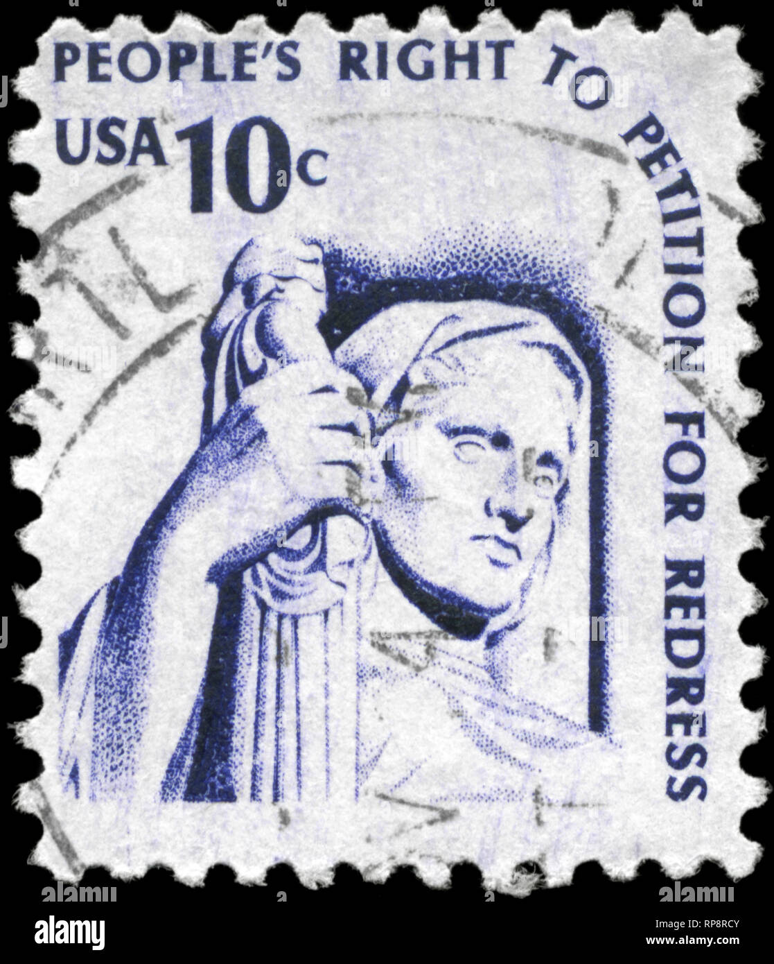 USA - CIRCA 1975: A Stamp printed in USA shows the Contemplation of Justice, Americana Issue, circa 1975 - Stock Image