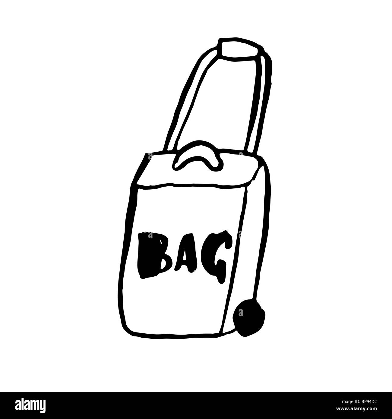 Travel Bag Grunge Icon Vector Hand Drawn Illustration Stock Vector Image Art Alamy