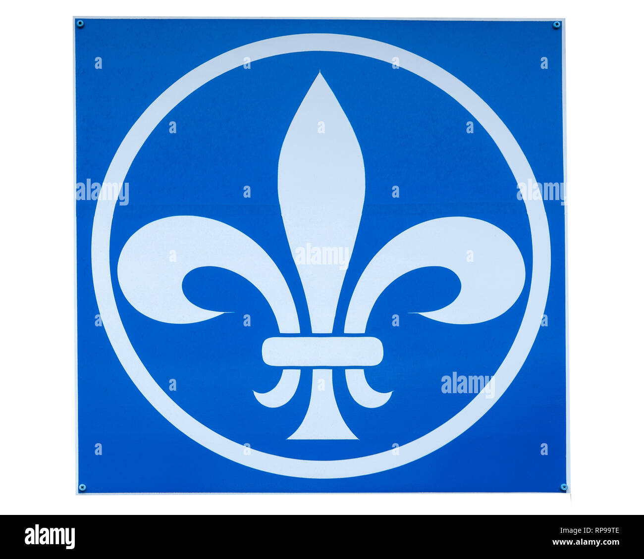 Close up of Scouts sign UK - Stock Image