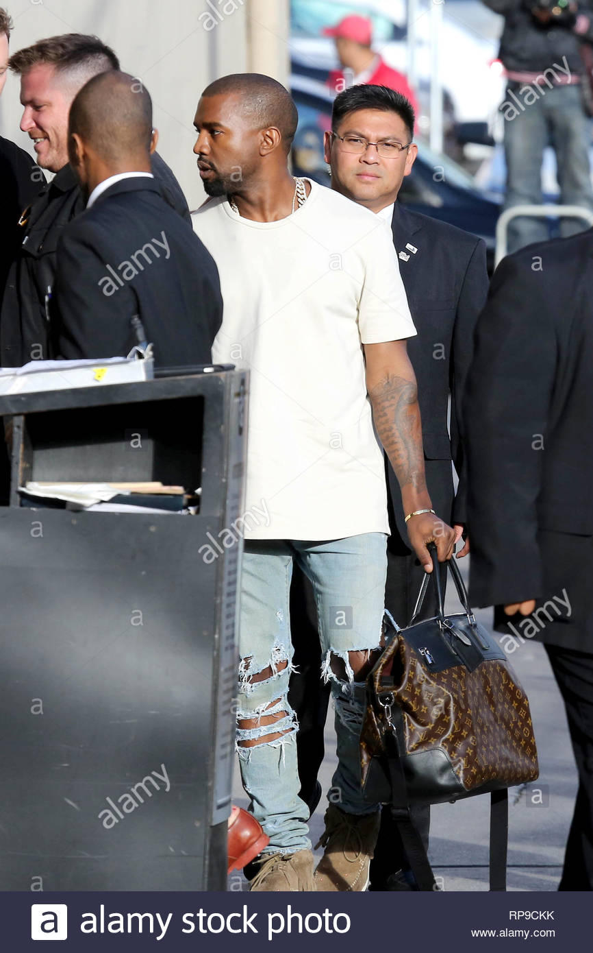cc435bbbe6cb hollywood-ca-part-2-shortly-after-his-baby-momma-kim-kardashian -arrives-at-jimmy-kimmels-studio-with-their-baby-north-west-kanye-west-arrives-with-his-  ...