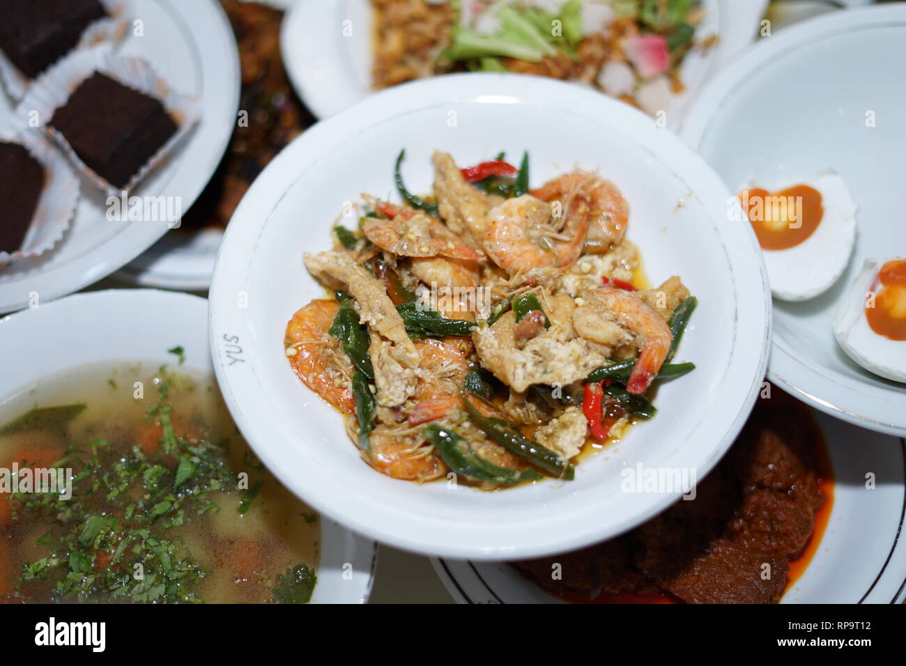Delicious Fried Organic Coconut Shrimp - Stock Image