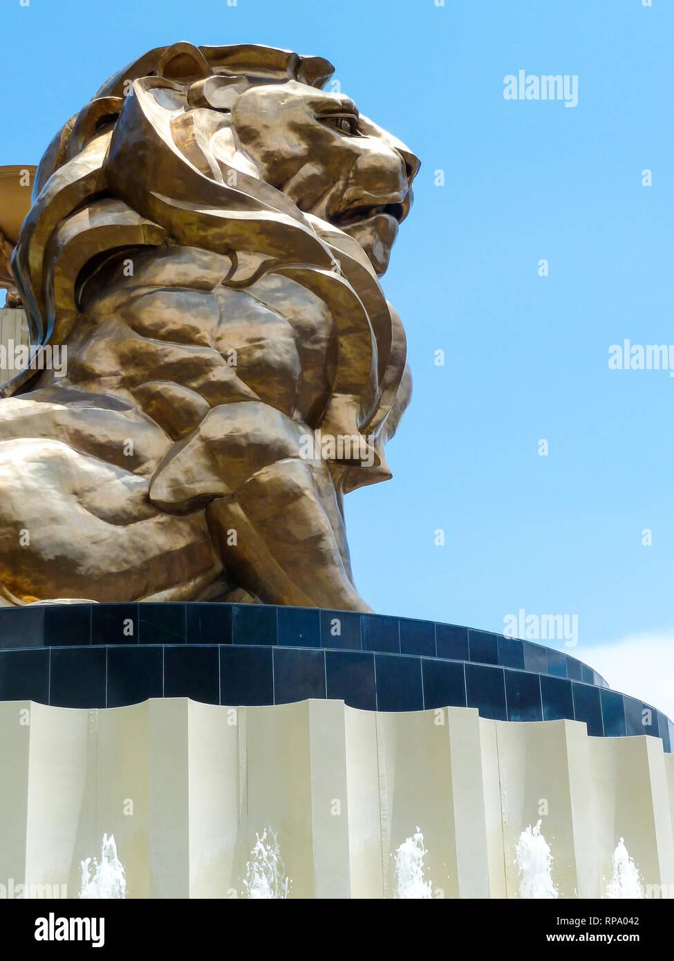 MGM lion, Las Vegas, Nevada, USA, - Stock Image