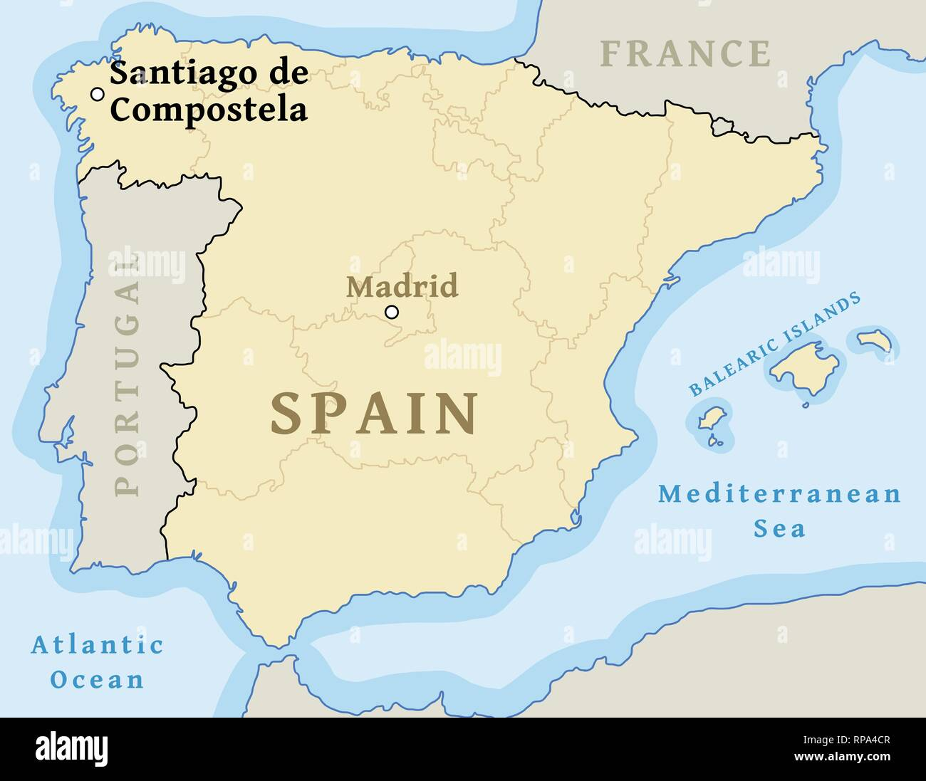 Santiago De Compostela Map Location Locate City On Map Of Spain