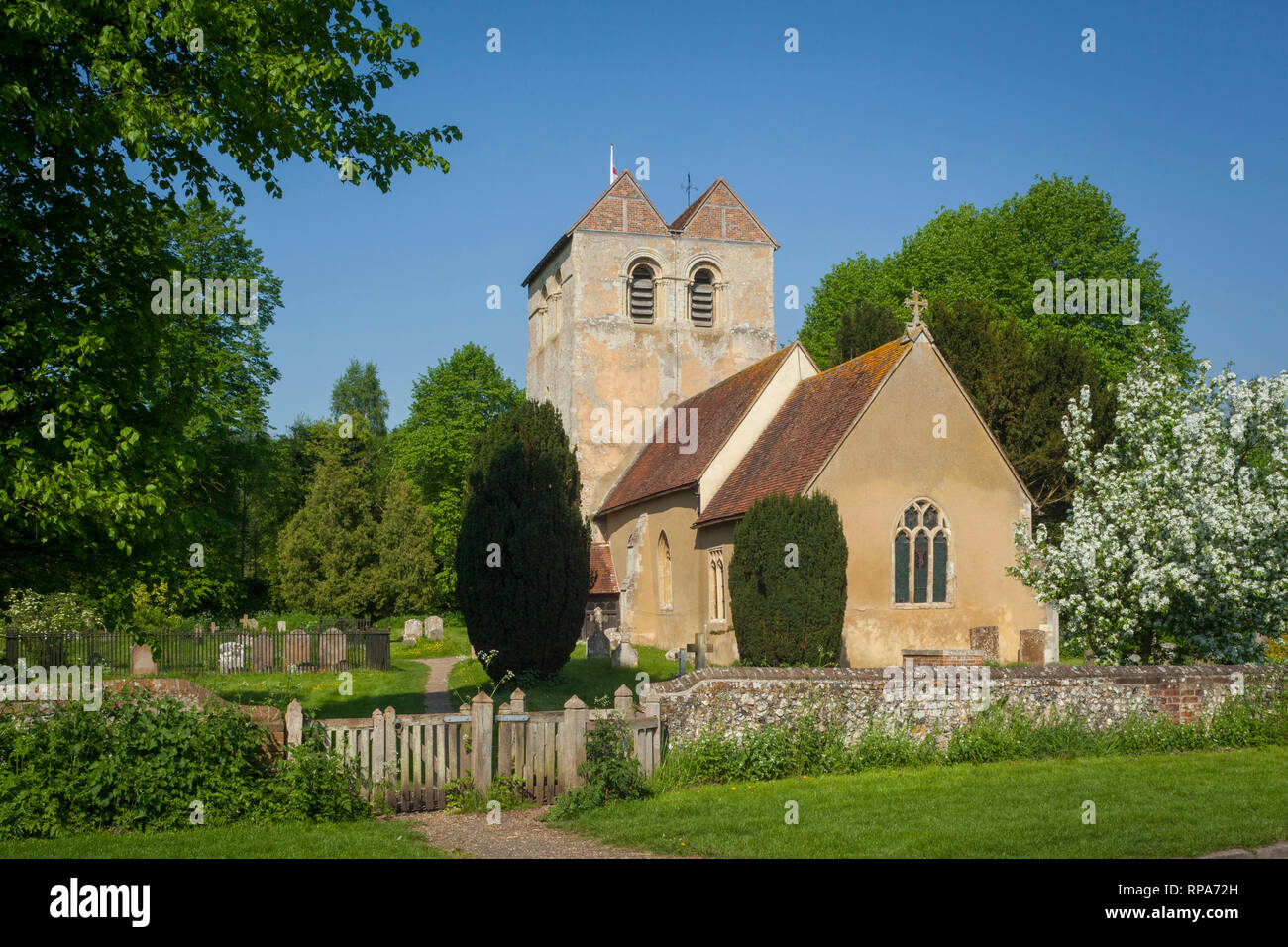 The Church of St. Bartholomew in the village of Fingest, Buckinghamshire. - Stock Image