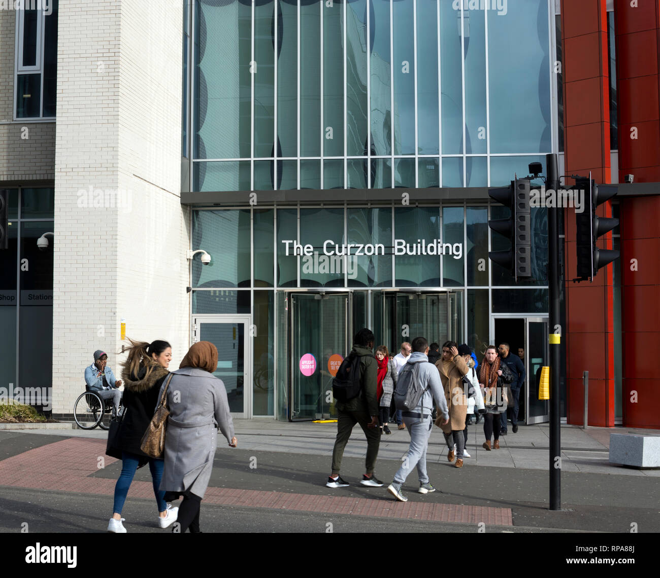 The Curzon Building, Birmingham City University, Birmingham, UK - Stock Image
