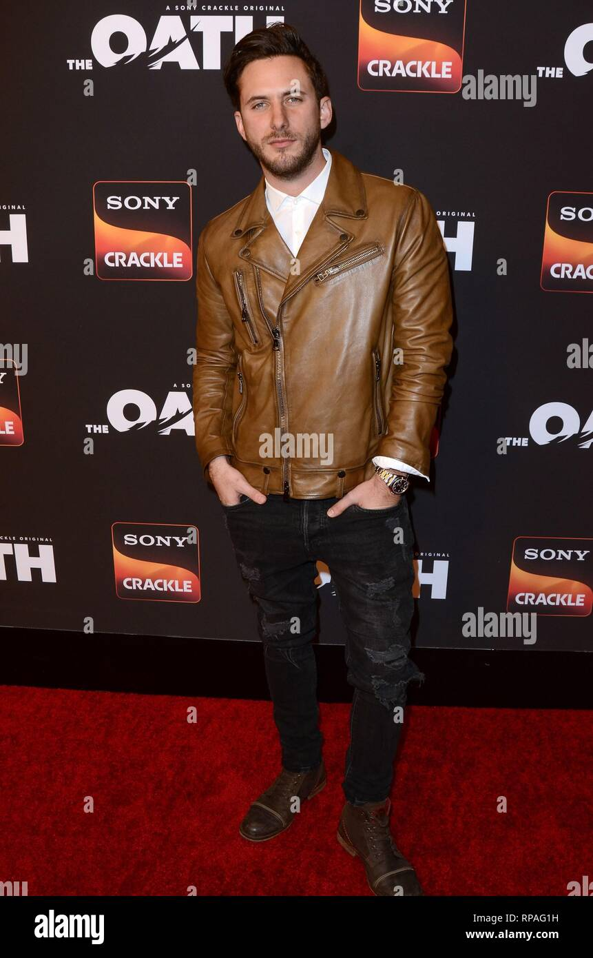 Los Angeles, CA, USA. 20th Feb, 2019. Sebastian Zurita at arrivals for Sony Crackle THE OATH Season 2 Screening Presented by Lexus, Paloma, Los Angeles, CA February 20, 2019. Credit: Priscilla Grant/Everett Collection/Alamy Live News - Stock Image