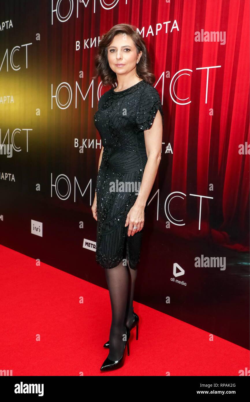 Alisa Khazanova moscow, russia - february 21, 2019: film director, producer