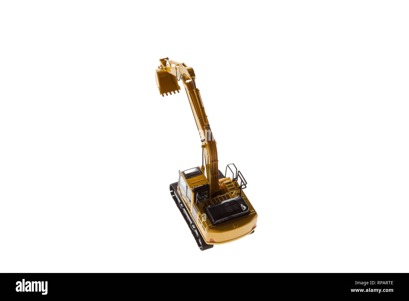 Excavator Crane Back View From Top - Stock Image
