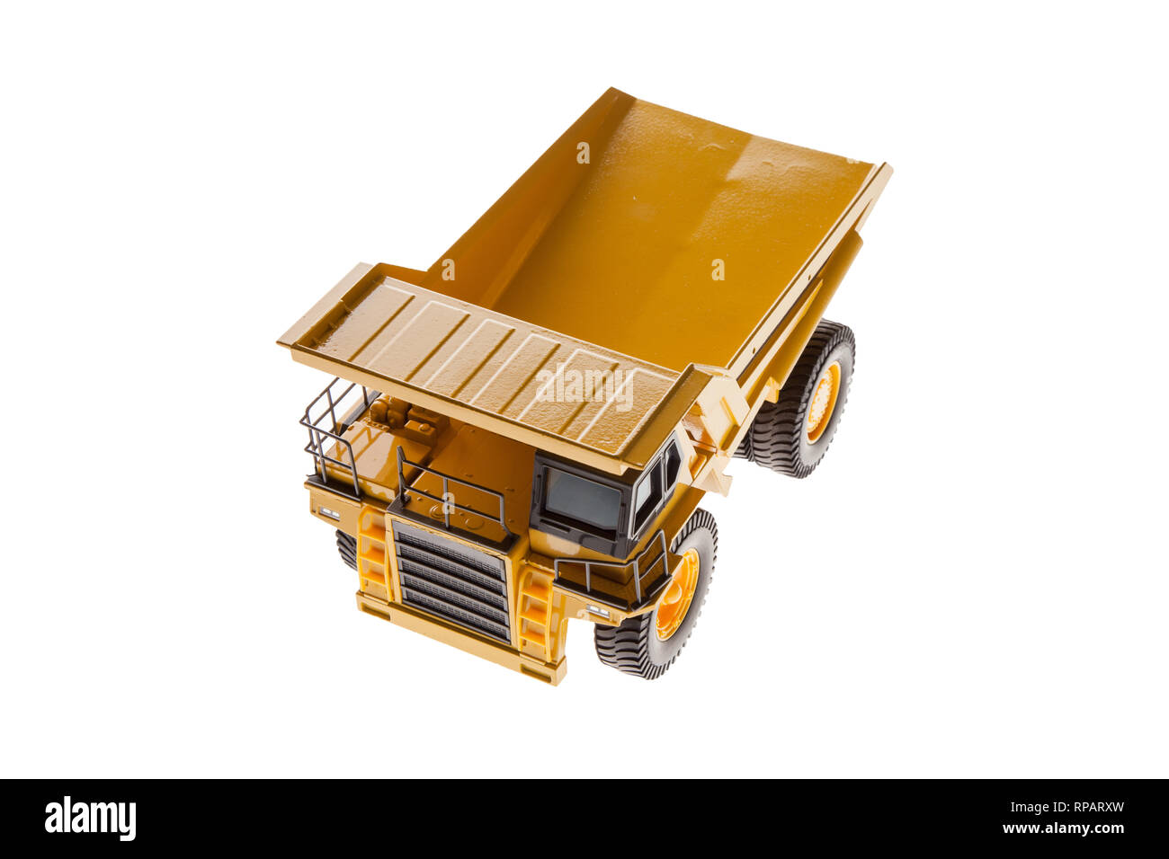 Heavy Load Dump Truck Top View Front - Stock Image