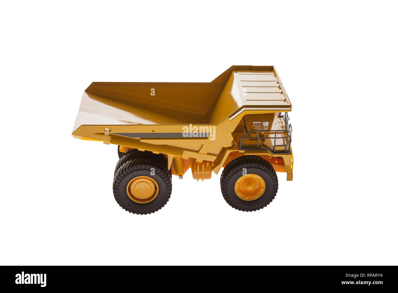 Heavy Load Dump Truck Top View - Stock Image