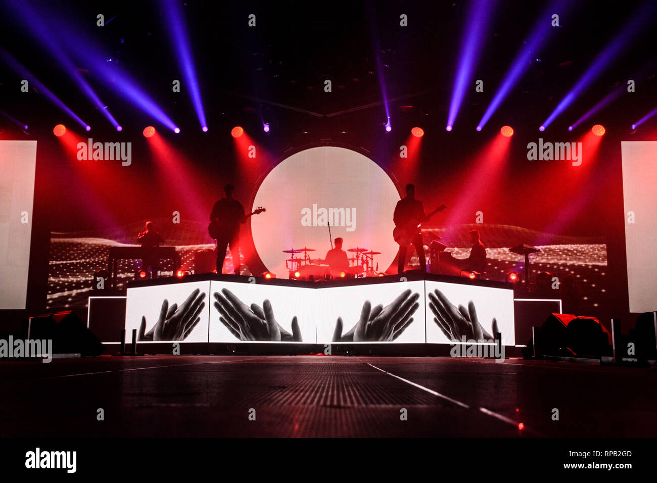 Negramaro Perform Live With Their Amore Che Torni Tour Indoor 2019 At Kioene Arena In Padova Stock Photo Alamy