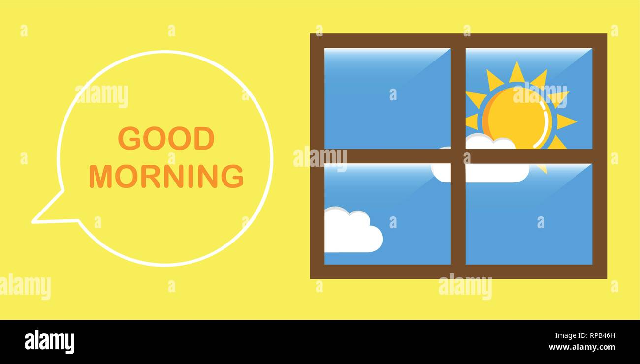 good morning sunny sky vector illustration EPS10 - Stock Vector