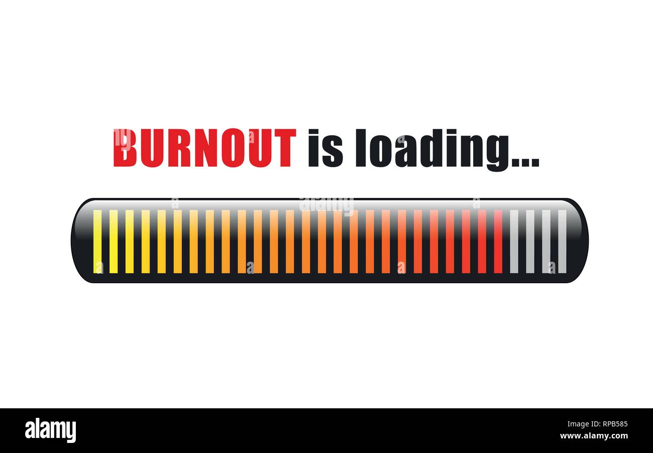 burnout is loading stress bar vector illustration EPS10 - Stock Vector