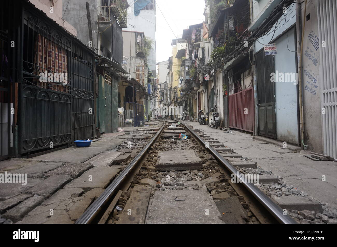 Train Street, Hanoi - Stock Image