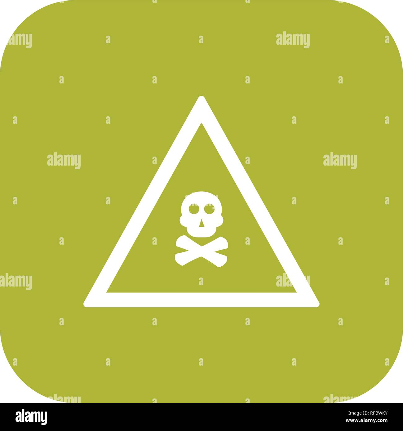 Vector Poison Gas Road Sign Icon - Stock Image
