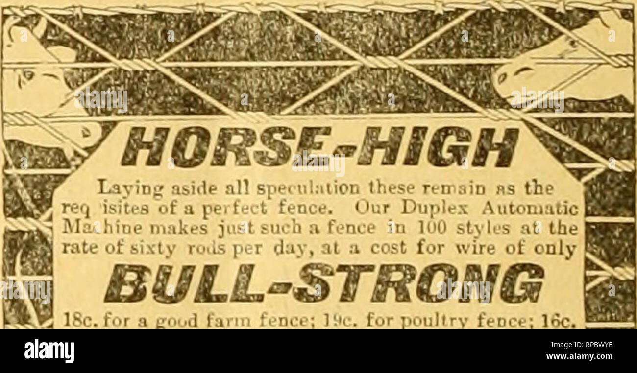 ". American bee journal. Bee culture; Bees. HORSE-HIGH^ Laying asidt all spedilnticn these remaio ns the j isiti-s of a pel fni't fence. Our Duplex AiitoniaticB :i Mi^hirie inri!;.-s jt-^t ;-ti.-h a fi.'m'e in H'O styl.js at thei I't -:;lv r.'..^. !?. r d:iv, al .-i cost for wirt; of only f B^LLSTROMG 'Xt ISc. fur a goud farm fence; Ifc. for poultry fence; 16c. ' jfrv| for a rnbbit-proof fence ftnd 12c. for » gooil hog fence. I R We will sell vouplaiD, coiled spring or barb wire direct J ^at %^!i.rf buyln| "" 9 Kitselmaa Bros., Box 13S, Kidgeviile, led. =^ PIG-TBGHT 45tJif Please mention th - Stock Image"