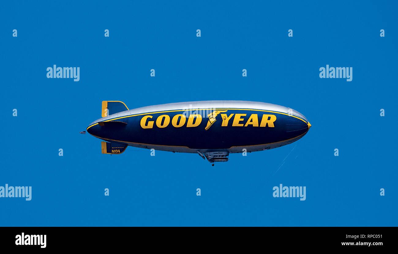 Good Year Blimp Spirit of America - Stock Image
