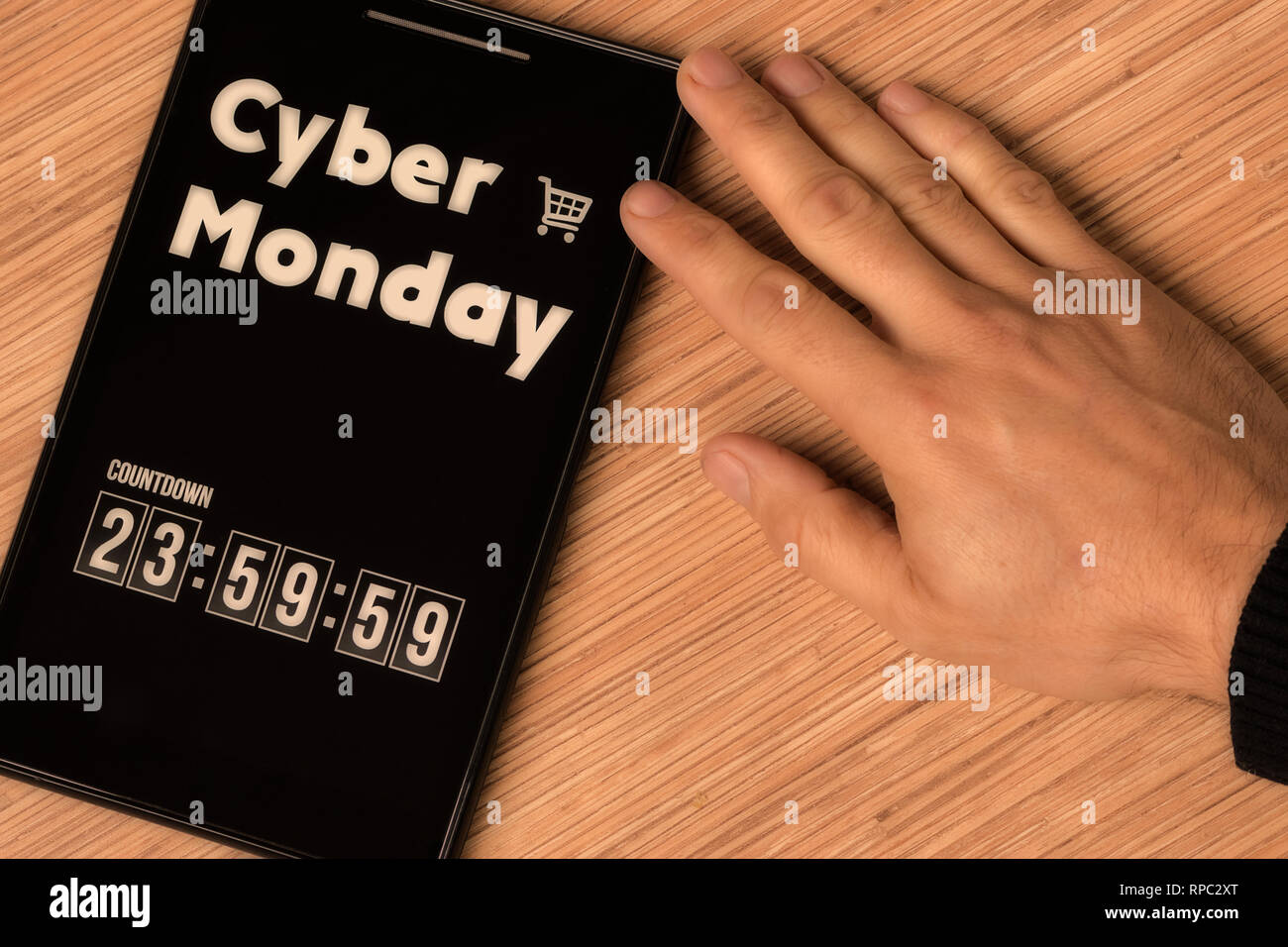 Cyber Monday countdown - Stock Image