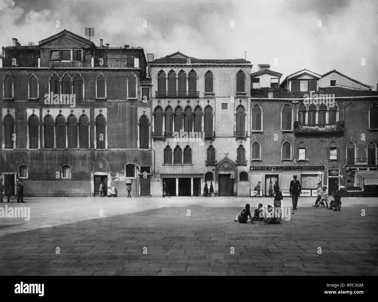 italy, veneto, venice, campo santa maria formosa, 1910-20 - Stock Image