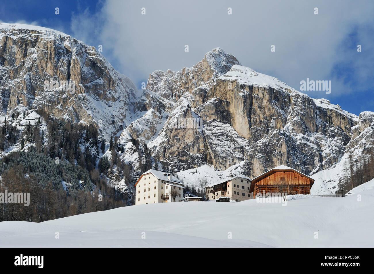 Colfosco in Badia. Trentino Alto Adige. Italy. - Stock Image