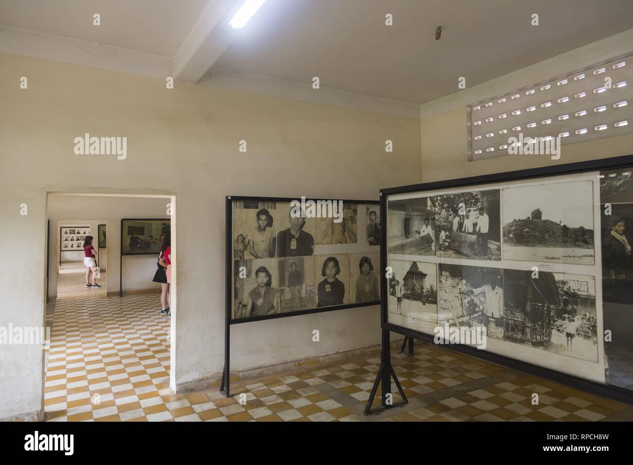 Red Khmer prison in Phnom Penh - Stock Image