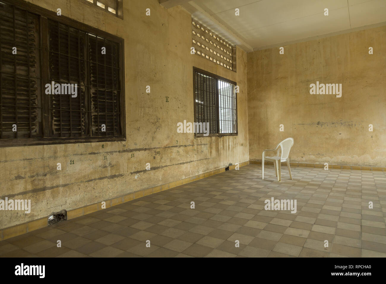 Red Khmer prison in Phnom Penh - Stock Image