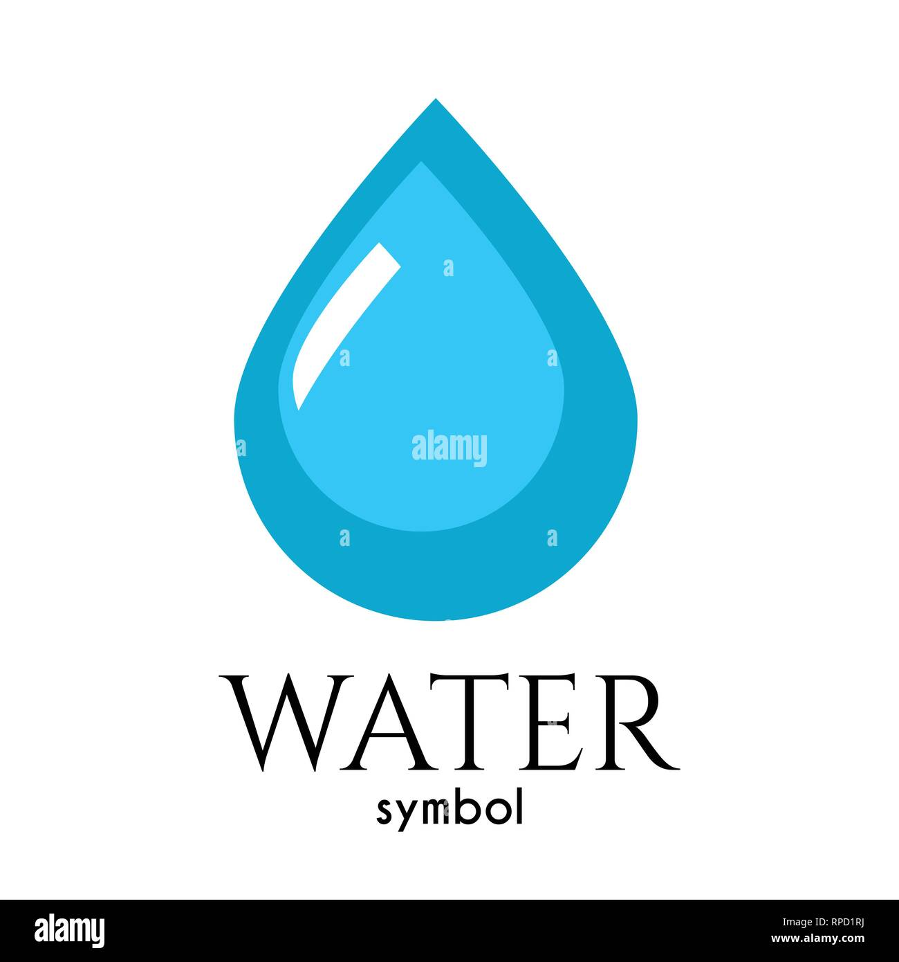 Drop of water, symbol of life and purity - Stock Vector