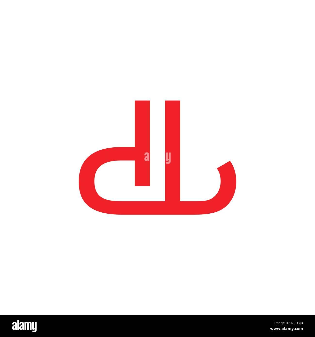 Letter Dl Simple Geometric Line Simple Brand Logo Stock Vector Image Art Alamy