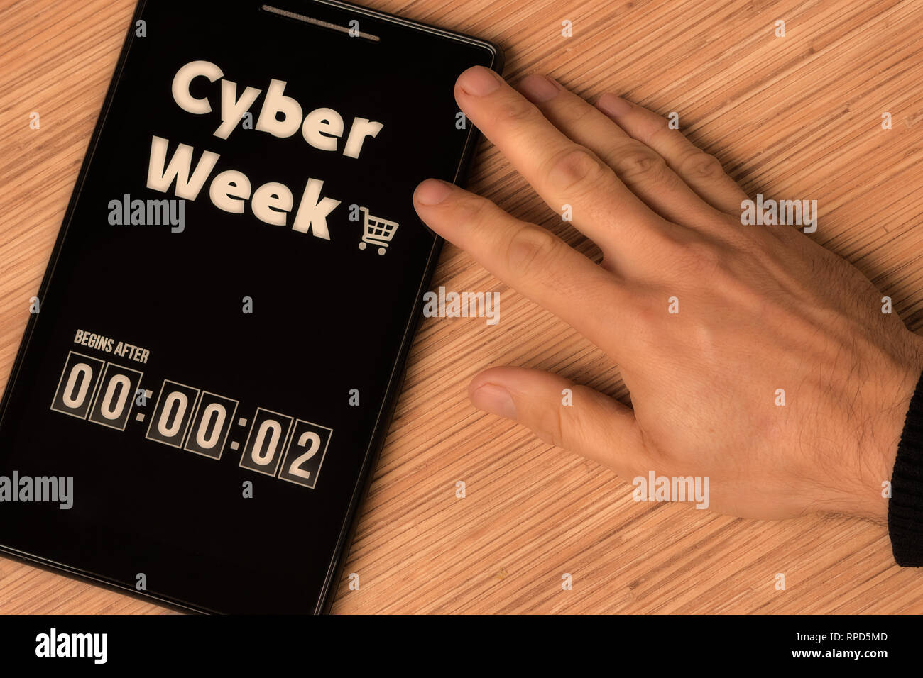 Cyber Week begins after - Stock Image