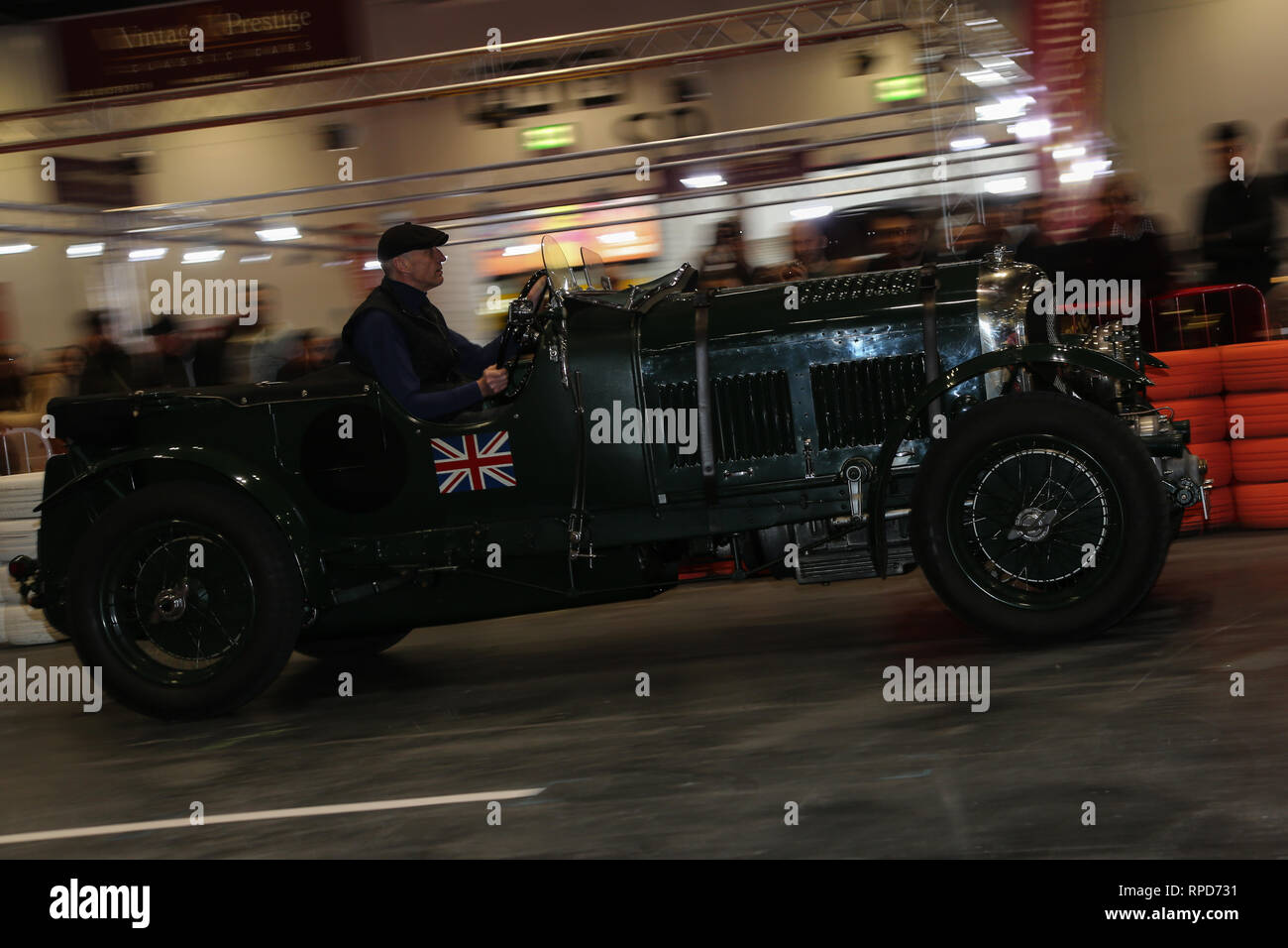 Bentley Blower at the London Classic Car Show 2019 Stock
