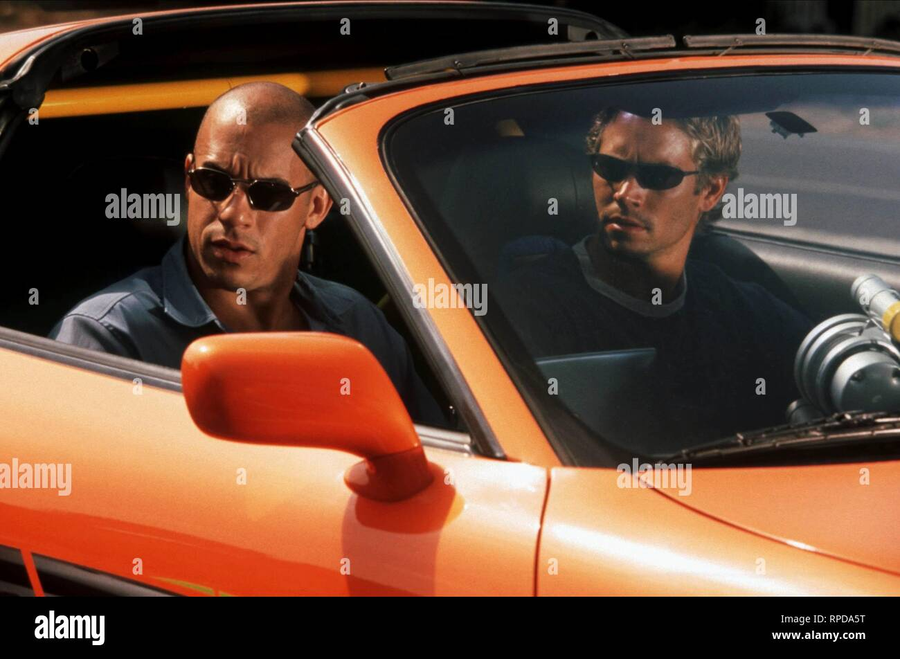 VIN DIESEL,PAUL WALKER, THE FAST AND THE FURIOUS, 2001 Stock Photo