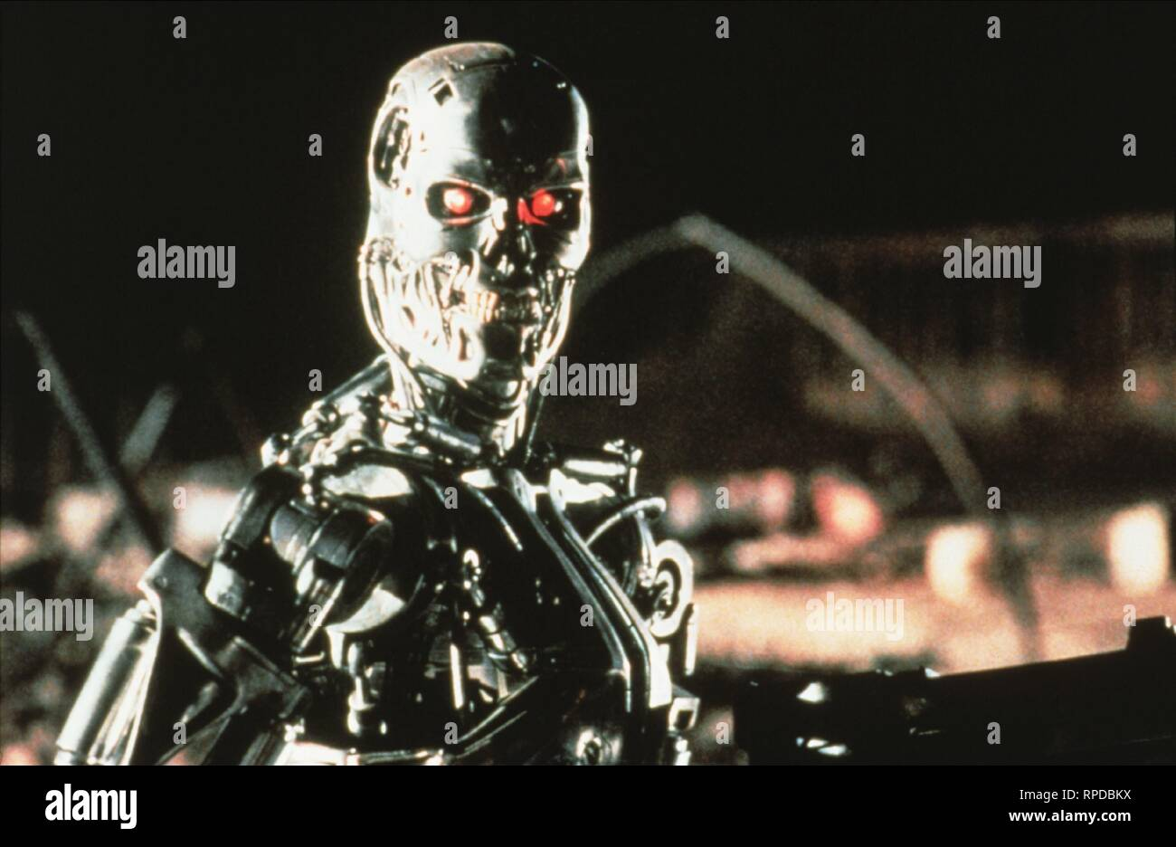 T-800, TERMINATOR 2: JUDGMENT DAY, 1991 - Stock Image