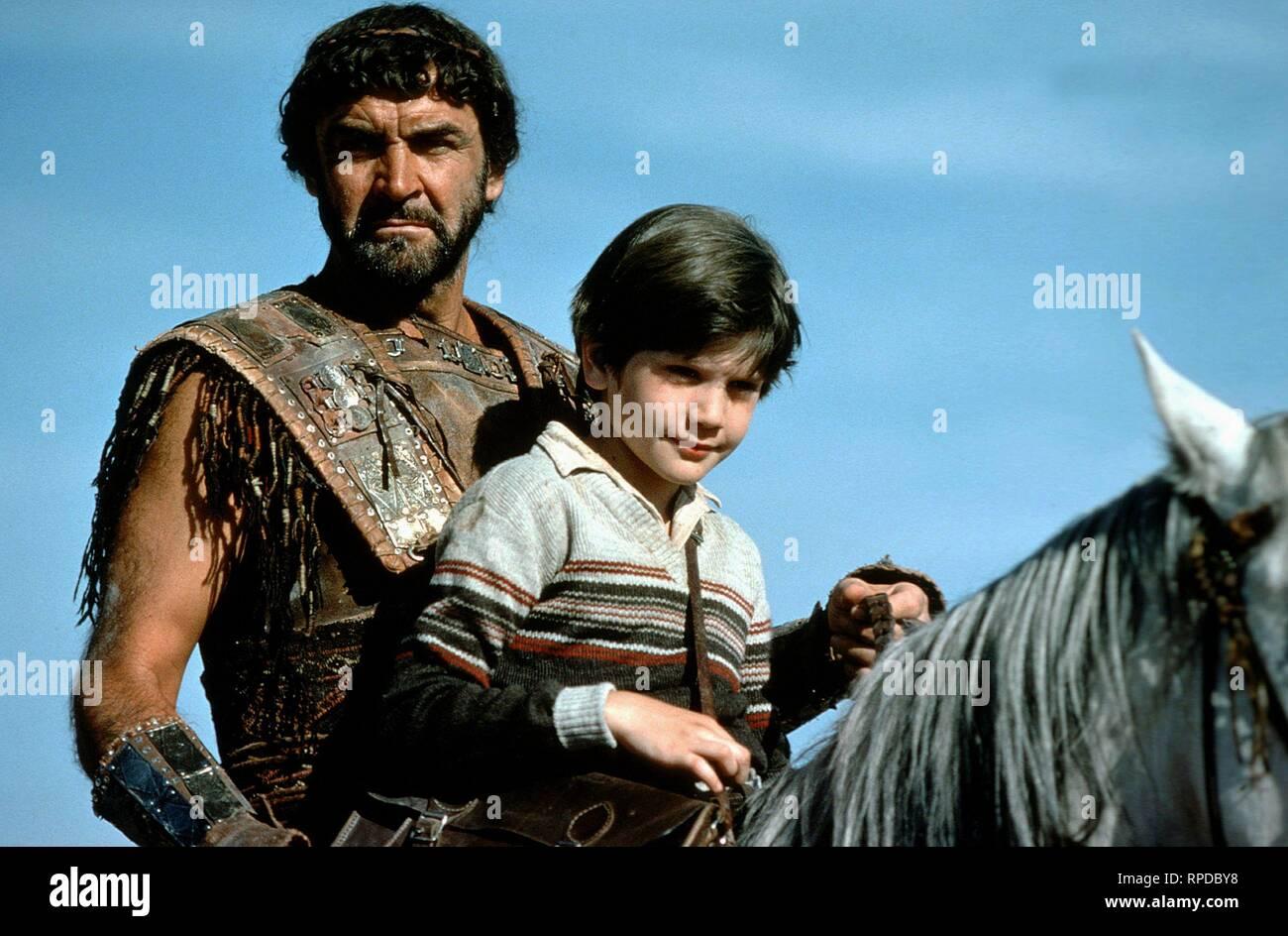 TIME BANDITS, SEAN CONNERY , CRAIG WARNOCK, 1981 - Stock Image