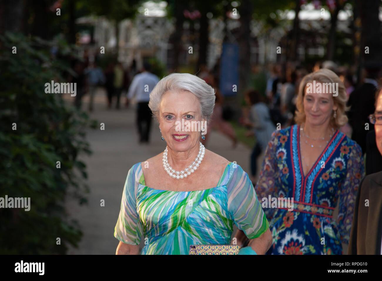 H.K.H. Princess Benedikte in Tivoli, invited to the 175 years jubilée of Tivoli, Copenhagen - Stock Image
