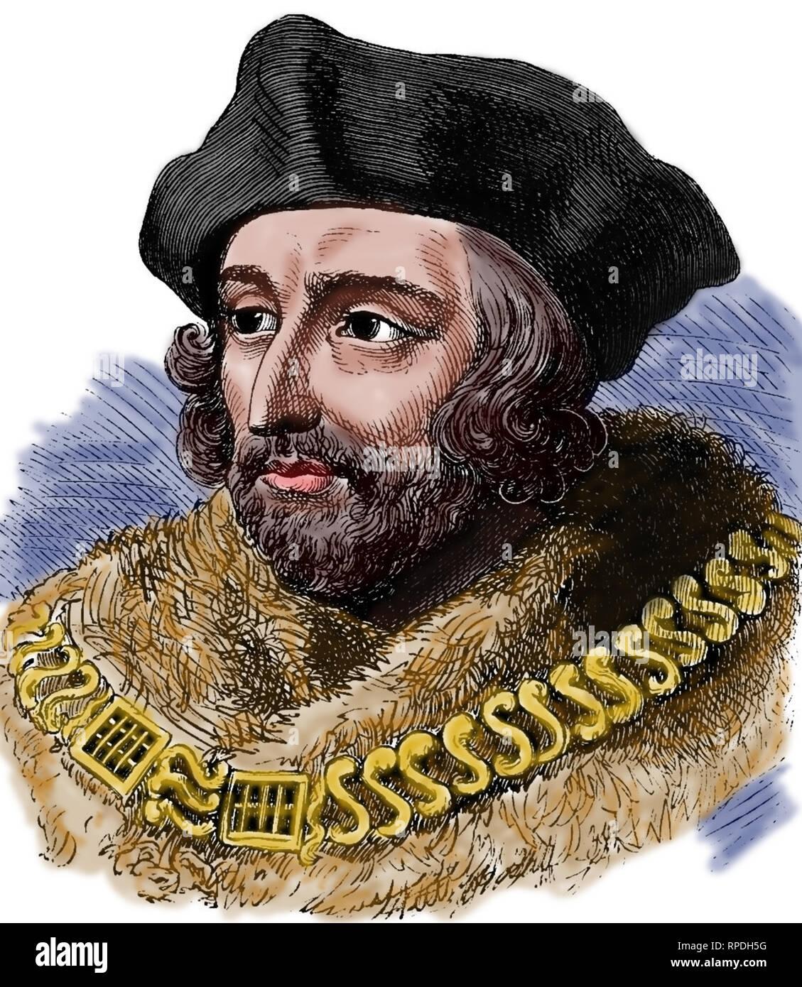 Thomas More (1478-1535). English lawyer. Social philosopher, statesman and Renaissance humanist. - Stock Image