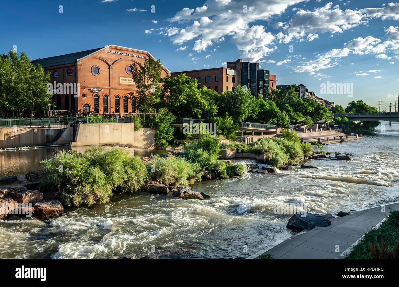 Platte River Confluence Park Denver Colorado Usa Stock Photo Alamy